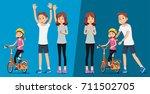 starting a new life. childhood... | Shutterstock .eps vector #711502705