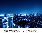 urban cityscape view on blue... | Shutterstock . vector #711503191
