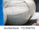white plastic granules on... | Shutterstock . vector #711506731