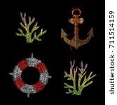 anchor  lifebuoy  coral....   Shutterstock .eps vector #711514159