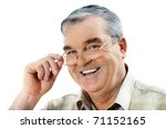 portrait of an elderly man... | Shutterstock . vector #71152165