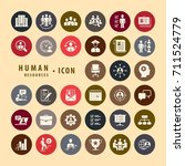 human resources icons set ...   Shutterstock .eps vector #711524779