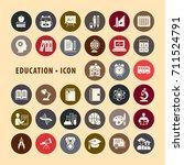 education icons set  vector... | Shutterstock .eps vector #711524791