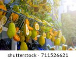 typical citrus fruits of sicily ... | Shutterstock . vector #711526621