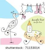 stork | Shutterstock .eps vector #71153014
