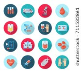 blood donation icon set. plasma ... | Shutterstock .eps vector #711532861