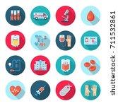 blood donation icon set. plasma ... | Shutterstock .eps vector #711532861