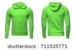 blank green male hoodie... | Shutterstock . vector #711535771
