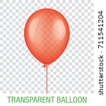 transparent red vector balloon... | Shutterstock .eps vector #711541204