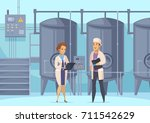 dairy production cartoon... | Shutterstock .eps vector #711542629
