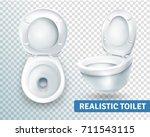 realistic toilet transparent...   Shutterstock .eps vector #711543115