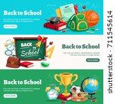 back to school 3 horizontal... | Shutterstock .eps vector #711545614