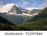 valley view of north cascades... | Shutterstock . vector #711547864