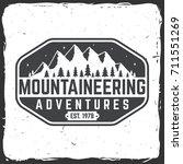 mountaineering adventure badge. ... | Shutterstock .eps vector #711551269