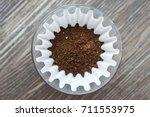 filter coffee | Shutterstock . vector #711553975