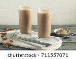 healthy homemade chocolate... | Shutterstock . vector #711557071