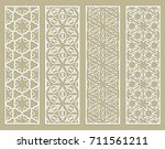 decorative geometric line... | Shutterstock .eps vector #711561211