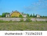 Small photo of Russia. Leningrad Region, Veshchovo 09,06,2012 Abandoned military airfield in Veshchevo