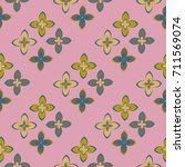 new color seamless pattern with ... | Shutterstock .eps vector #711569074