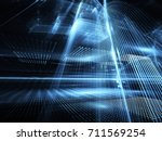 abstract technology... | Shutterstock . vector #711569254