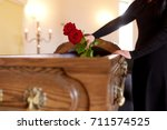 people and mourning concept  ...   Shutterstock . vector #711574525