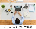 business  people and technology ... | Shutterstock . vector #711574831