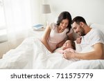 people  family and morning... | Shutterstock . vector #711575779