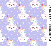 pattern with magical unicorn in ...   Shutterstock .eps vector #711578617
