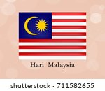 illustration of malaysia day...   Shutterstock .eps vector #711582655