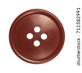 Small photo of sewing button, red - brown, vintage
