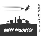 halloween party design elements | Shutterstock .eps vector #711587869
