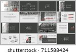 grey and red elements for... | Shutterstock .eps vector #711588424