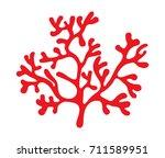 red algae silhouette vector... | Shutterstock .eps vector #711589951