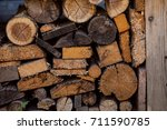 old pile of wood | Shutterstock . vector #711590785