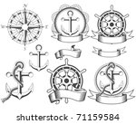 nautical emblems with different ... | Shutterstock .eps vector #71159584