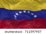 national flag of the bolivarian ... | Shutterstock . vector #711597937