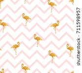 seamless pattern with gold... | Shutterstock . vector #711598957