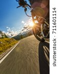 detail of motorcycle front... | Shutterstock . vector #711601114