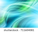 Abstract Blue Green Background...