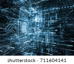 virtual space series. 3d... | Shutterstock . vector #711604141