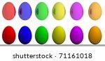 set of easter eggs | Shutterstock . vector #71161018