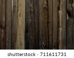 the texture of the wood. an old ... | Shutterstock . vector #711611731