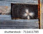 the texture of the wood. cross... | Shutterstock . vector #711611785