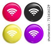 wifi signal multi color glossy...