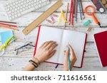back to school concept | Shutterstock . vector #711616561