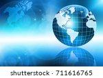 best internet concept of global ...   Shutterstock . vector #711616765