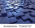 a landscape with many blue... | Shutterstock . vector #711621727
