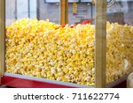 sweet popcorn shop close up view | Shutterstock . vector #711622774