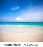 beach and tropical sea | Shutterstock . vector #711622861
