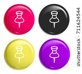 pin multi color glossy badge...